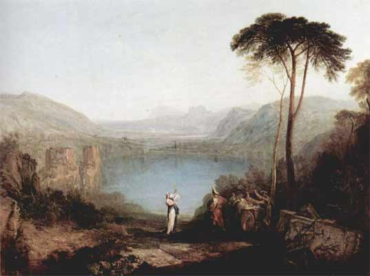William Turner - Lac d'Averne, Italie
