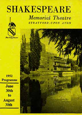 Shakespeare Memorial Theatre, Stratford-upon avon, 1952 Programme - Private Collection